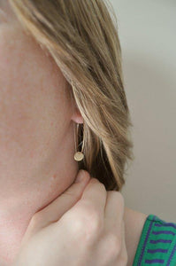 Gold Hoop Earrings with disc