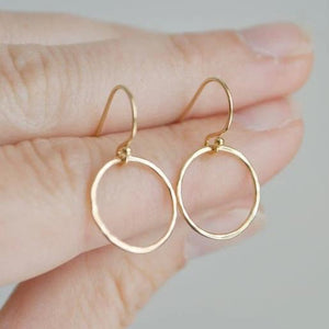 Gold Halo Earrings