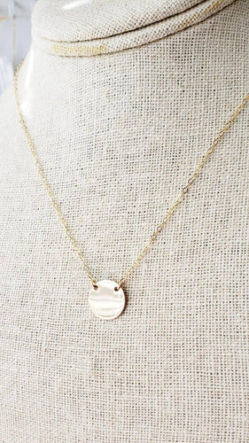 Smooth Gold Disc Necklace