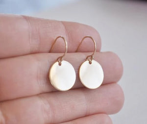 Smooth Gold Disc Earrings