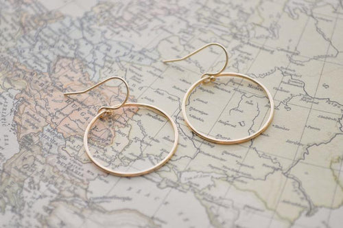 Gold Circle Earrings