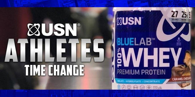 USN Blue Lab Whey Athletes Time Change