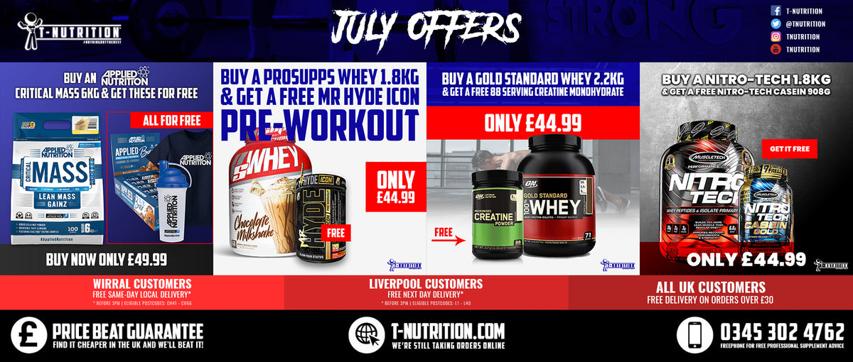 T-Nutrition July Offers Banner