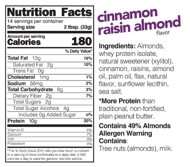 Nuts 'N More Almond Butter Cinnamon Raisin (454g)