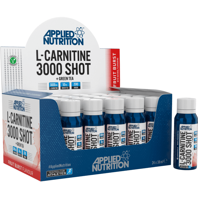 Applied Nutrition L-Carnitine 3000 Shot + Green Tea Box (24 x 38ml)