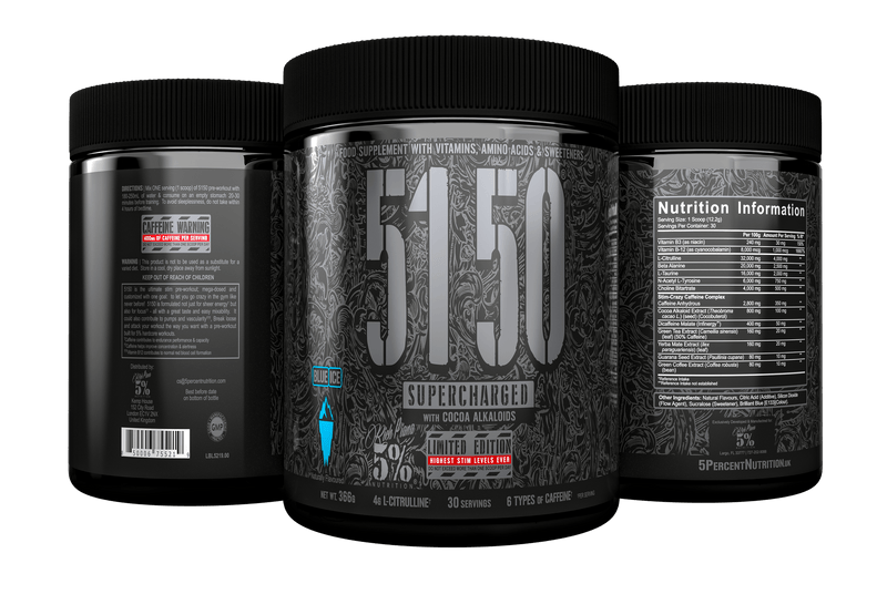 Rich Piana 5% Nutrition 5150 Supercharged Preworkout