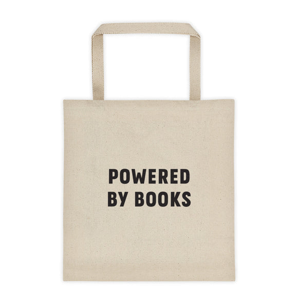 Powered by Books Tote bag