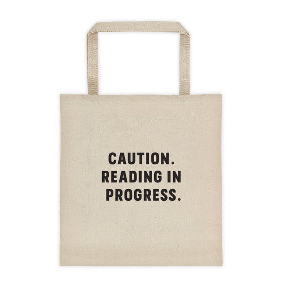 Reading in Progress Tote bag