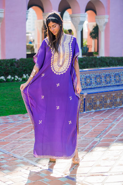 Women's Purple Kaftan