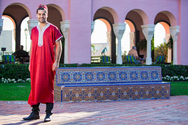 Men's Red Kaftan