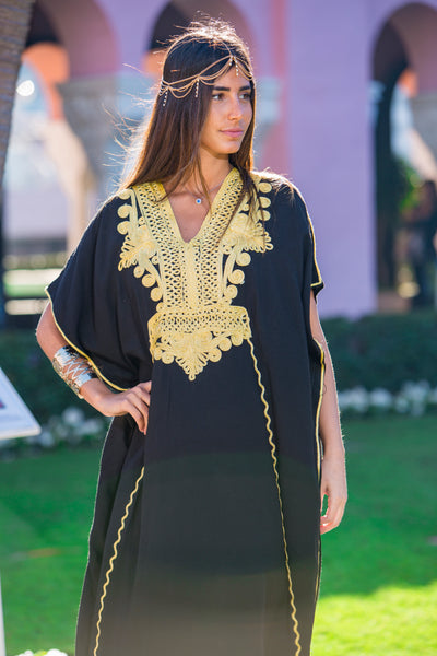 Women's Black Kaftan 2