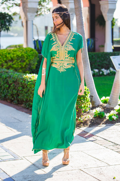 Women's Green Kaftan