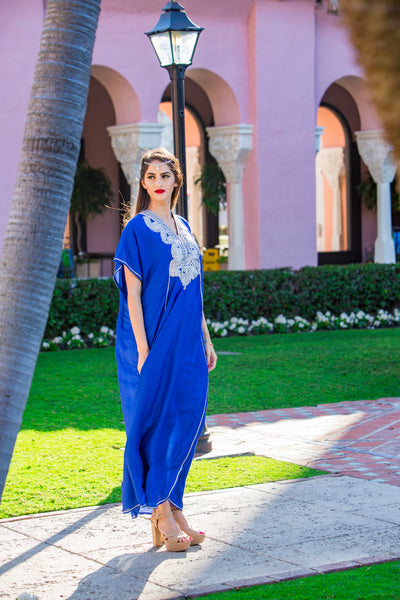 Women's Blue Kaftan 2