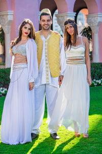 Men's White Henna Attire