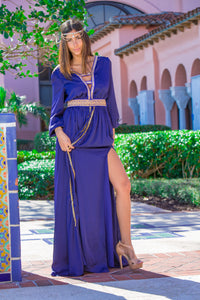 Women's Blue Modern Henna Dress 2