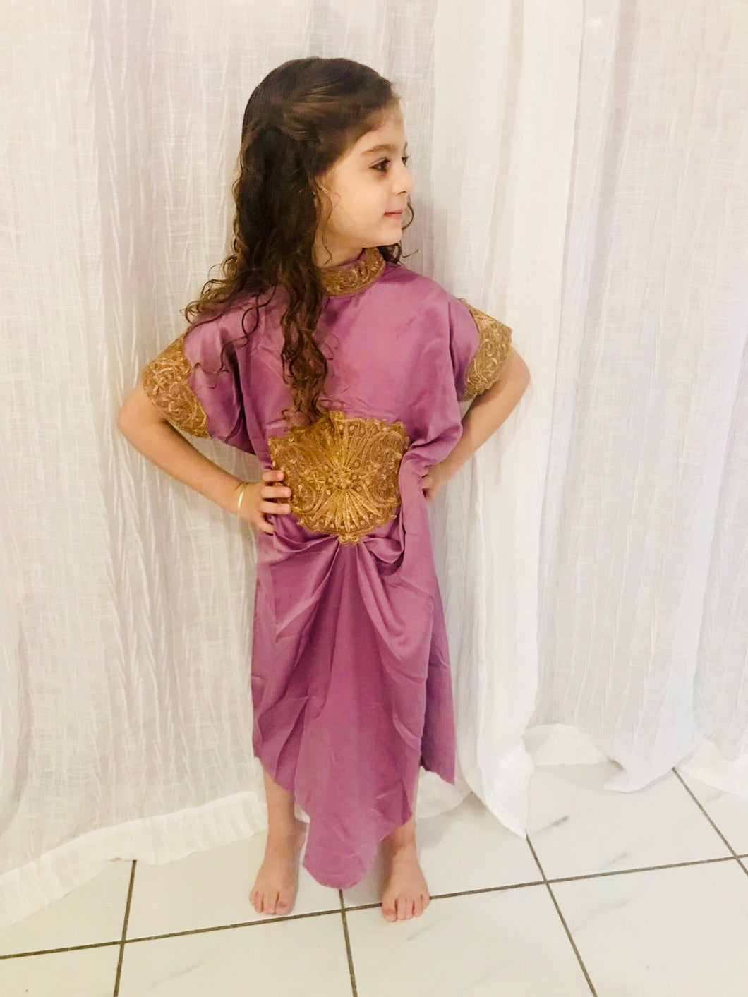 Girl Purple Kaftan