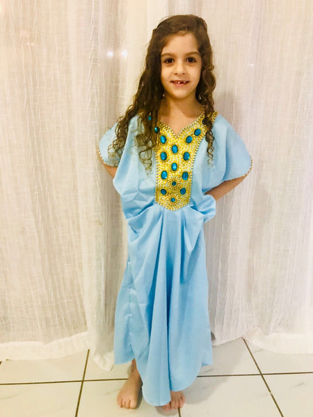 Girl Light Blue Kaftan