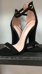 Strappy Black Heel