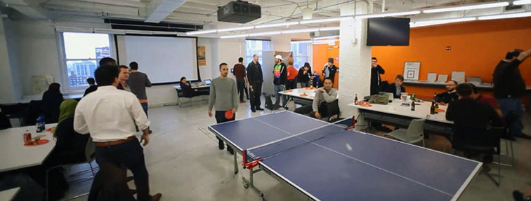 A break from the hectic work day - #UnPlugNPlay Ping Pong