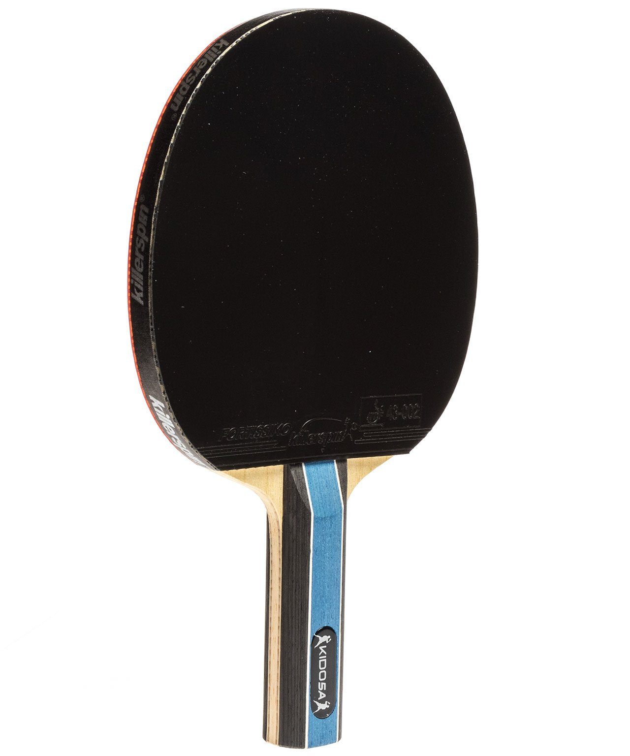 Killerspin Ping Pong Paddle Kido 5A RTG Premium - Straight Black Fortissimo Rubber