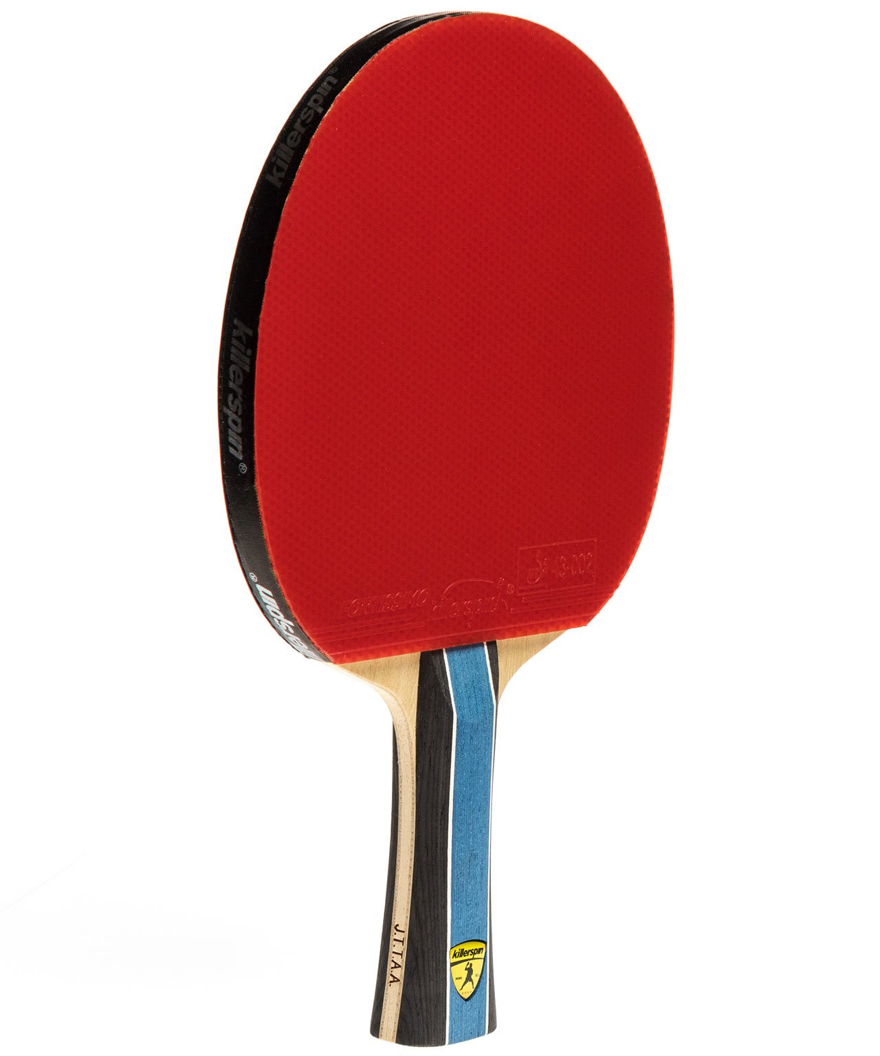 Killerspin Ping Pong Paddle Kido 5A RTG Premium - Flared Red Fortissimo Rubber