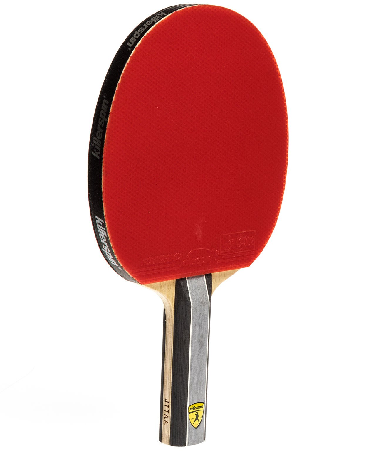 Killerspin Ping Pong Racket Kido 7P RTG Premium - Straight Red Fortissimo Rubber