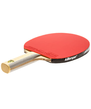 Killerspin Ping Pong Paddle Diamond CQ Premium - Straight Red Fortissimo Rubber