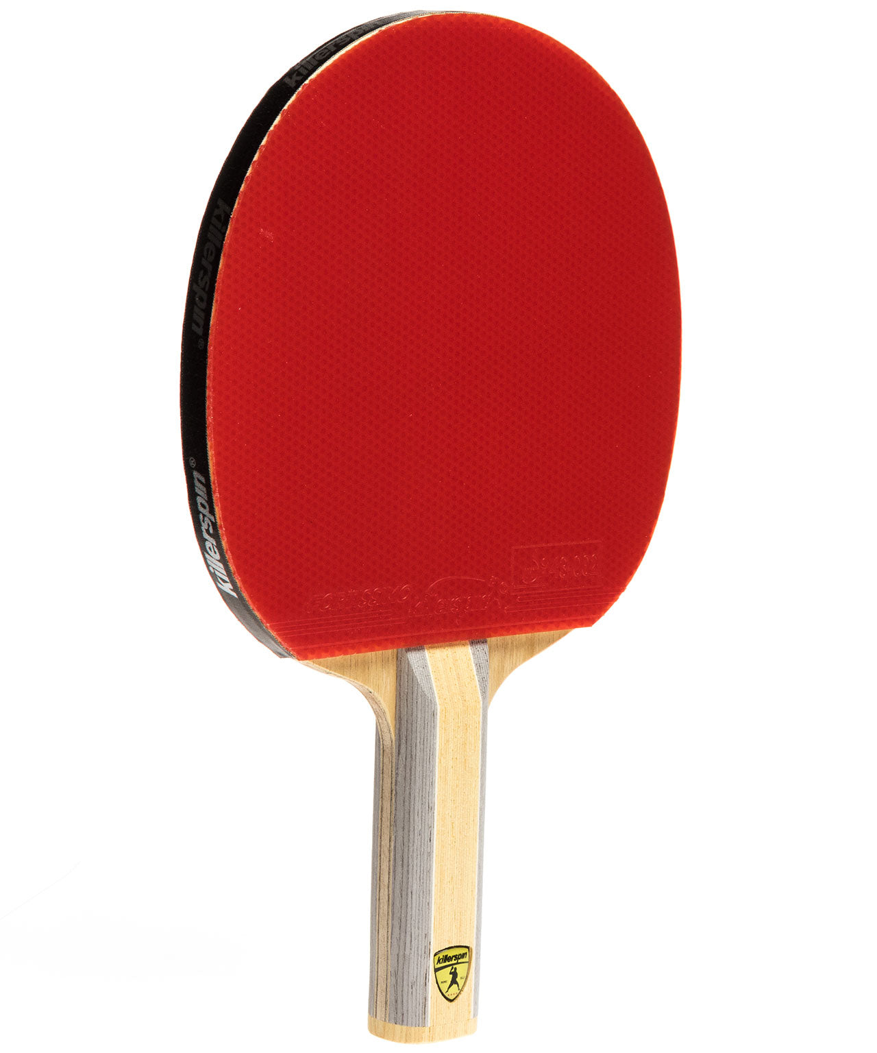 Killerspin Ping Pong Racquet Diamond CQ Premium - Straight Red Fortissimo Rubber