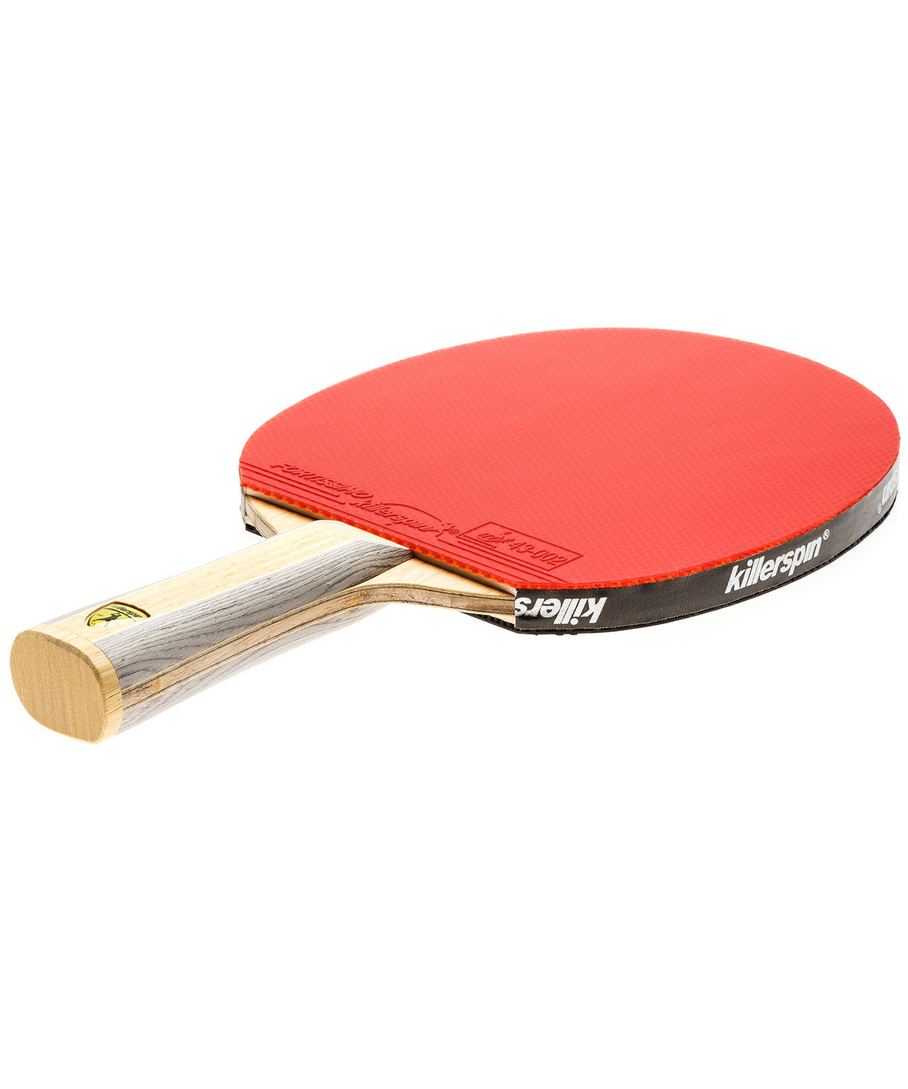 Killerspin Ping Pong Paddle Diamond CQ Premium - Flared Red Fortissimo Rubber