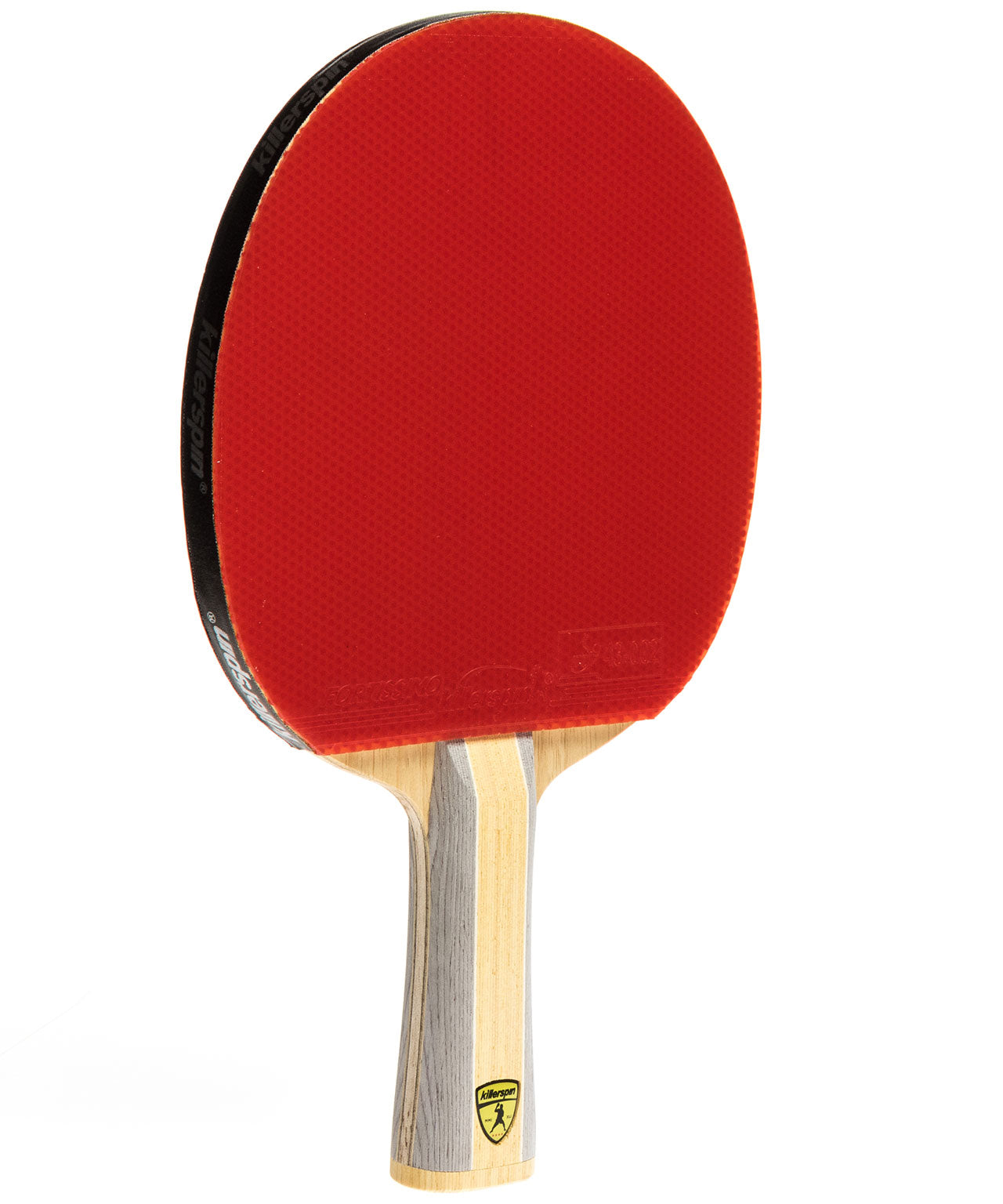 Killerspin Table Tennis Racket Diamond CQ Premium - Flared Red Fortissimo Rubber
