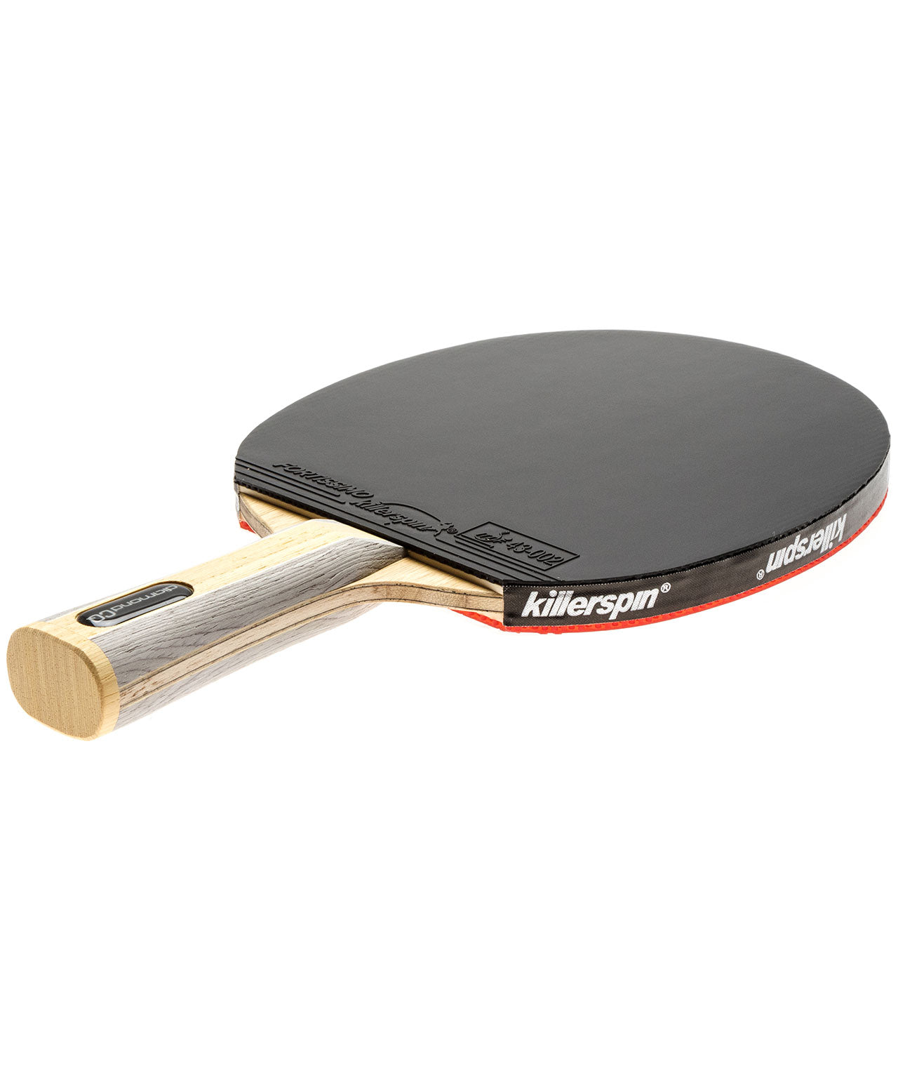 Killerspin Ping Pong Paddle Diamond CQ Premium - Flared Black Fortissimo Rubber
