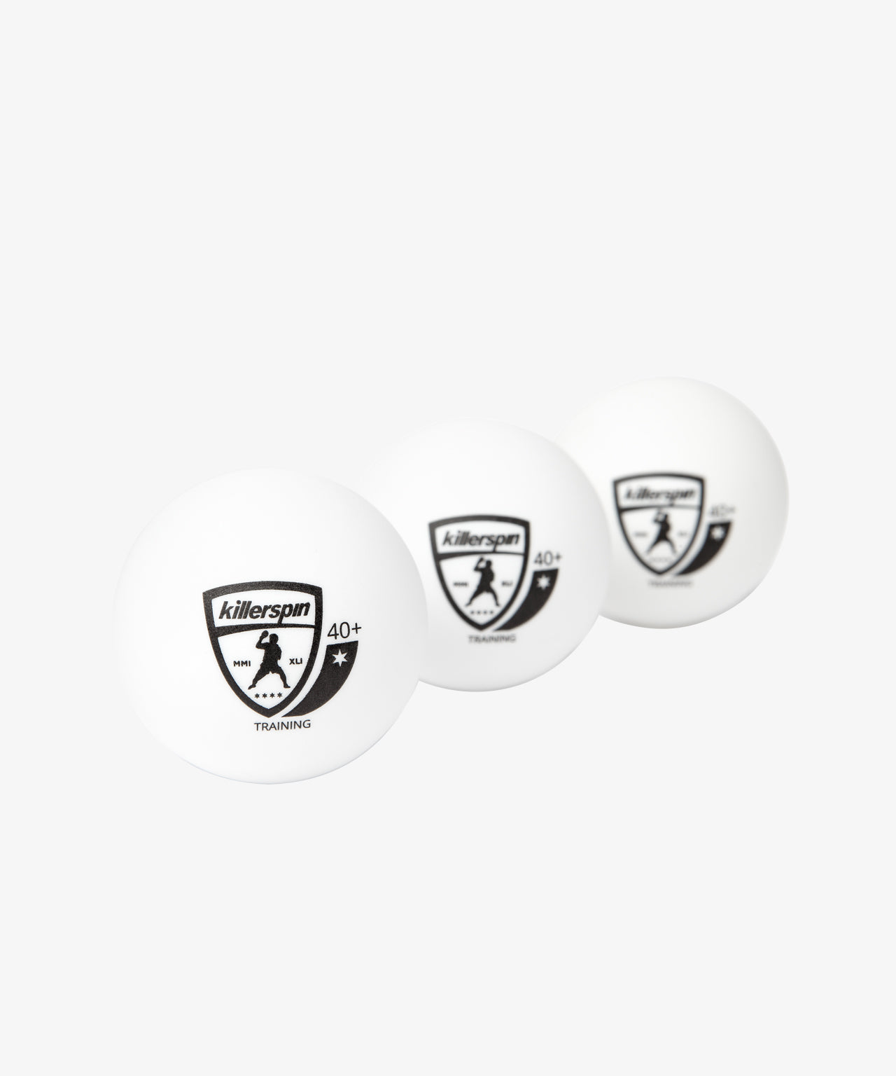 Training 1 Star Balls 40+ (White) 100 pack