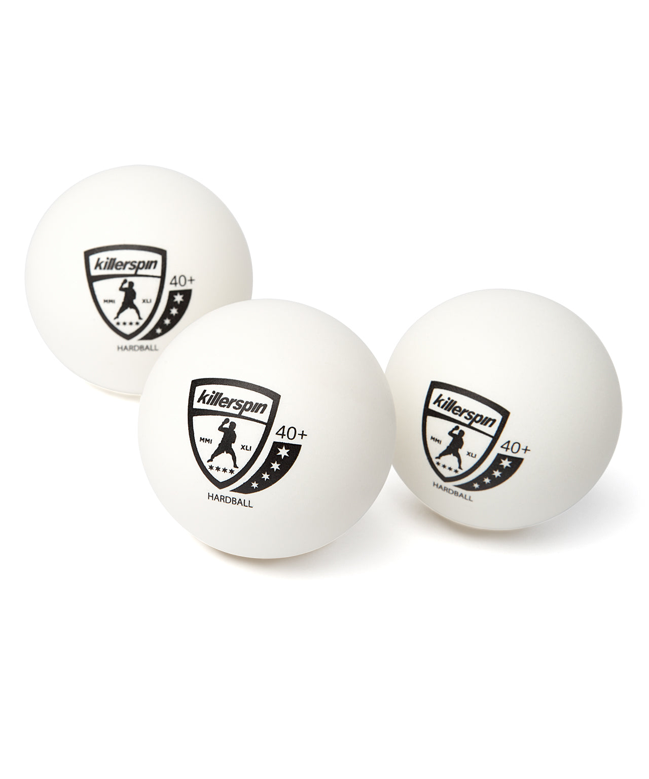 Killerspin 4 Star Hardball 40+ White Ping Pong Balls - Multiple Balls