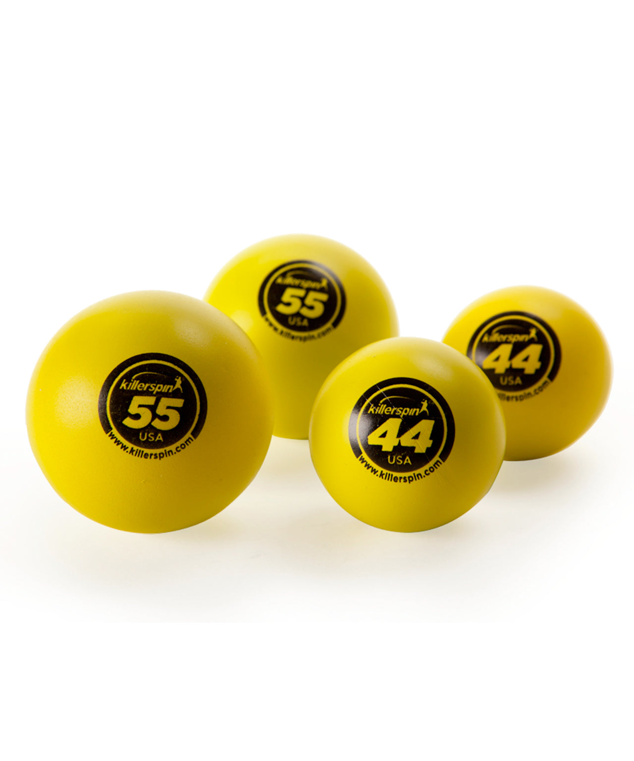 New Killerspin 2 x 44mm and 2 x 55mm Pack of Table Tennis Balls