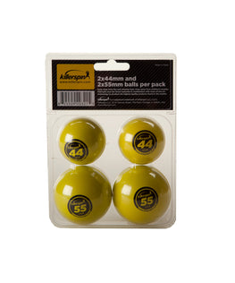 2 x 44mm and 2 x 55mm Balls