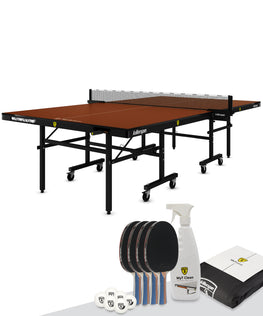 Killerspin Indoor Ping Pong Package MyT5 Mocha Pocket Table