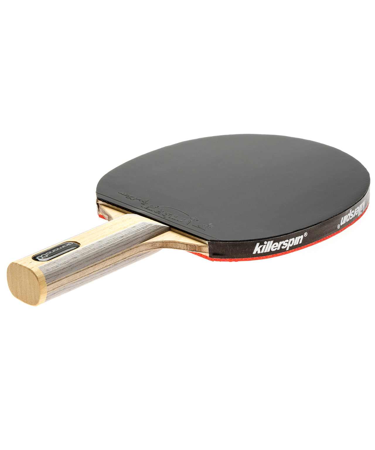 Killerspin Ping Pong Paddle Diamond CQ - Srait Handle Black Rubber
