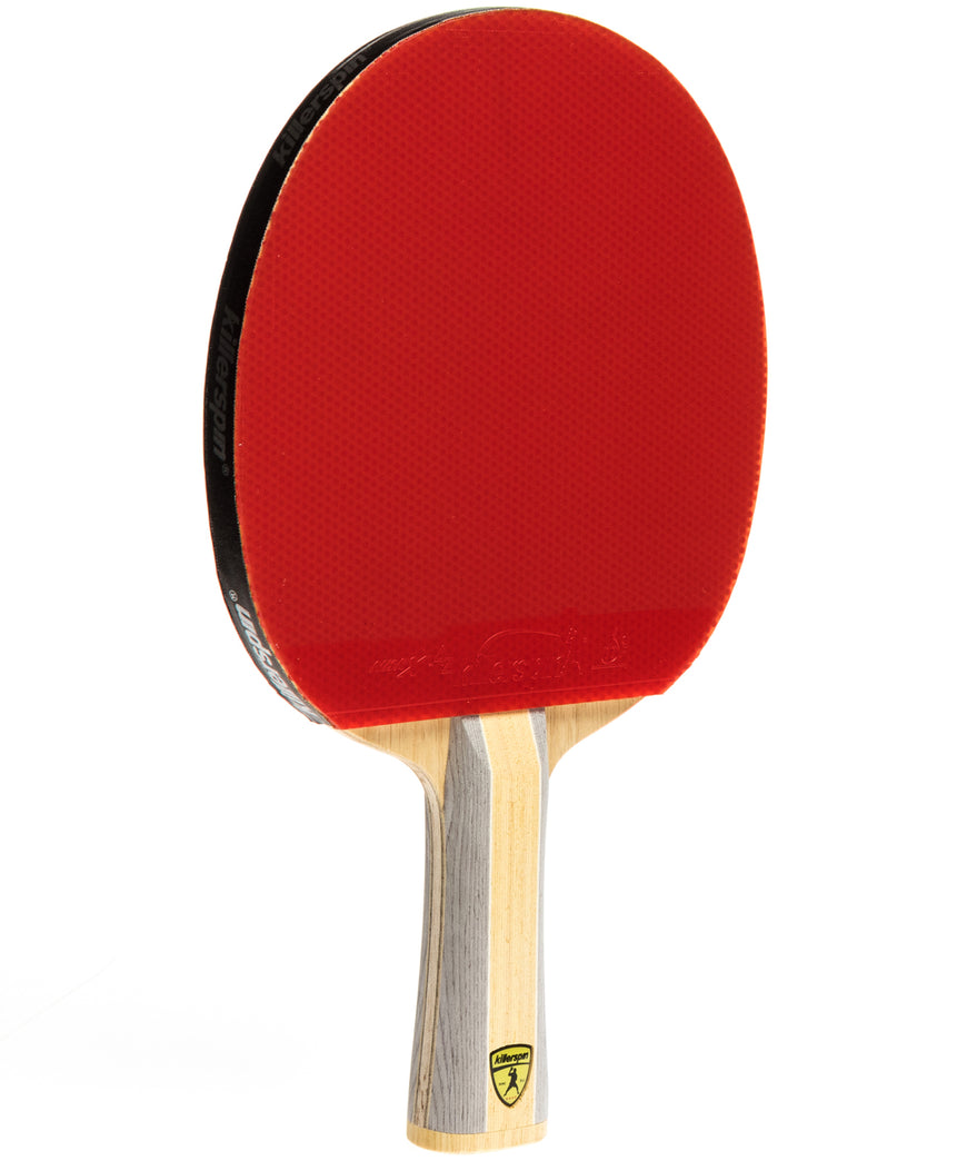 Killerspin Ping Pong Racket Diamond CQ - Flared Red Rubber