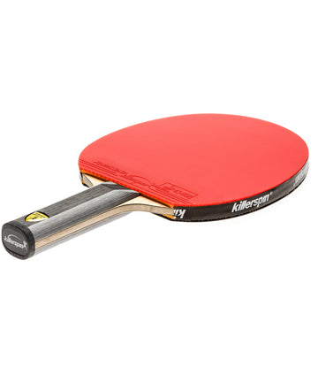 Killerspin Ping Pong Paddle Diamond TC Premium - Straight Red Fortissimo Rubber