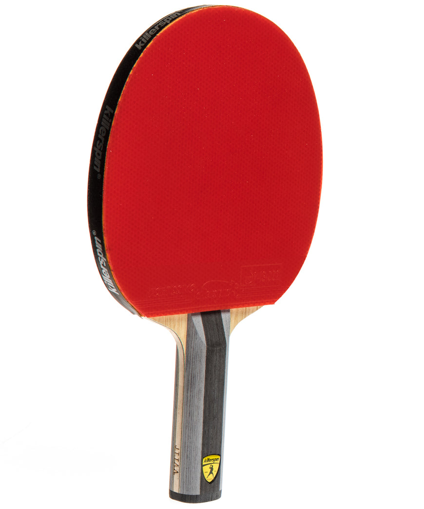 Killerspin Ping Pong Racket Diamond TC Premium - Straight Red Fortissimo Rubber