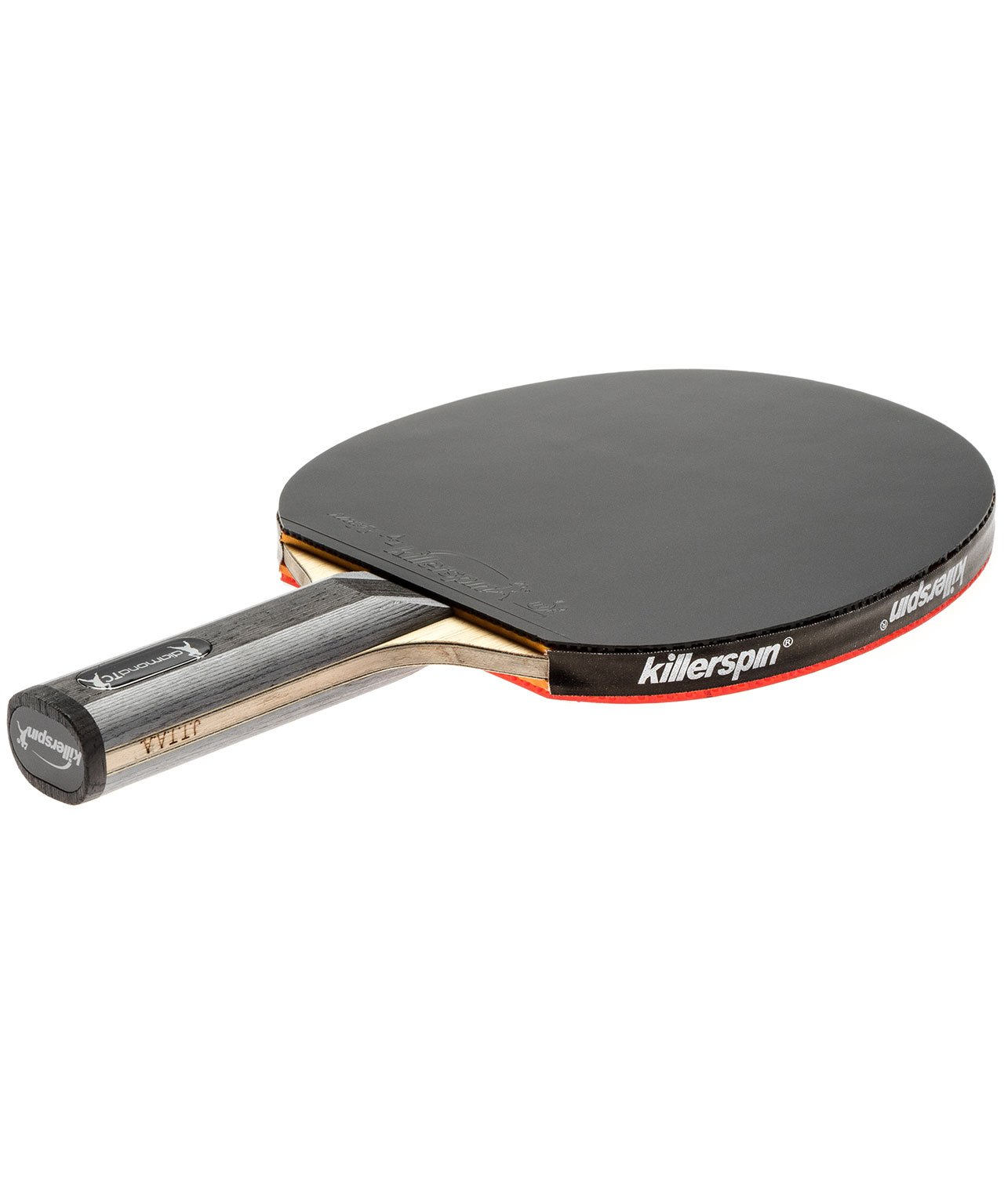 Killerspin Ping Pong Paddle Diamond TC - Straight Black Rubber
