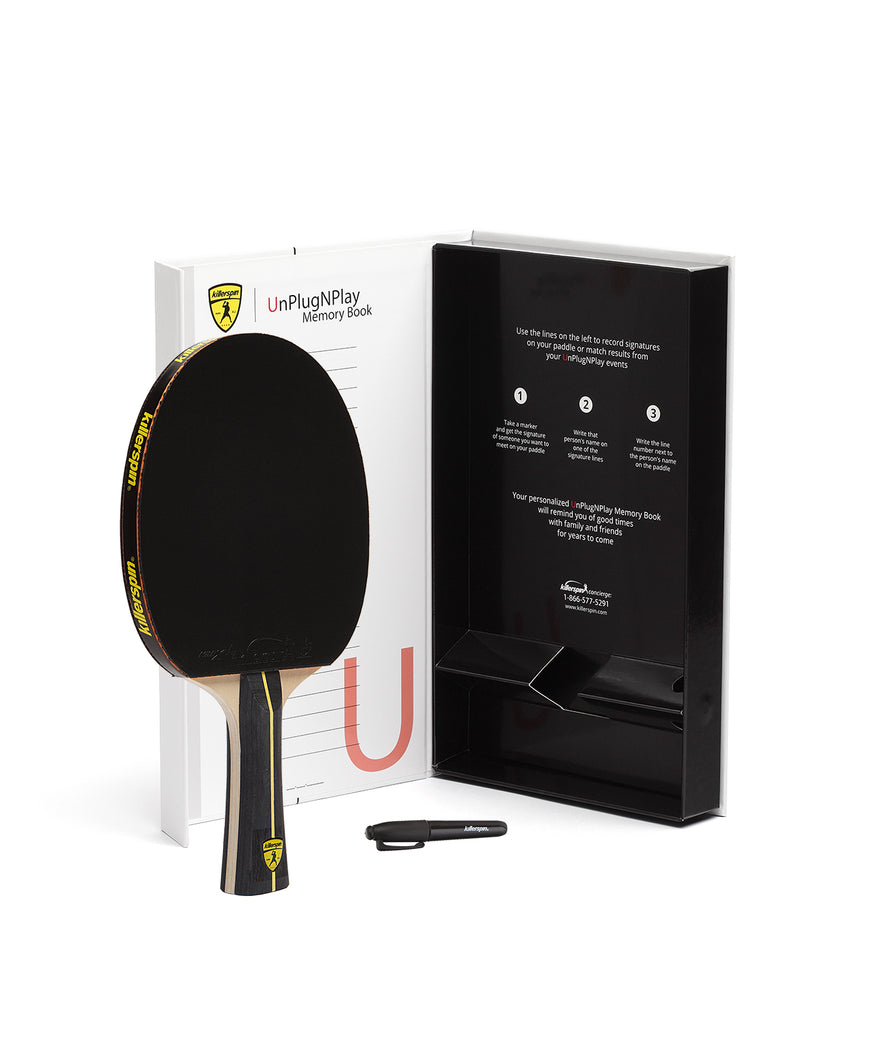 Killerspin Ping Pong Paddle Jet Black - Gift
