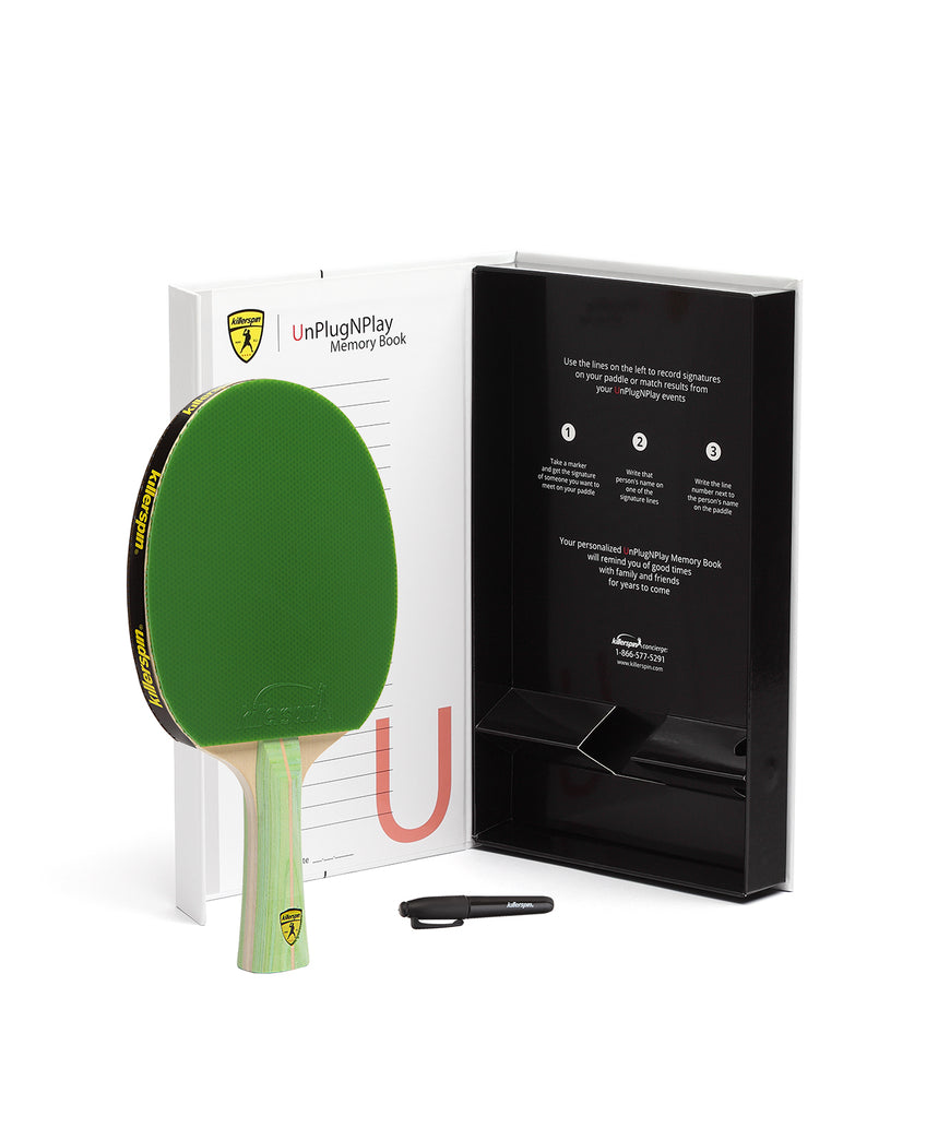 Killerspin Ping Pong Paddle Jet200 Lime - Gift
