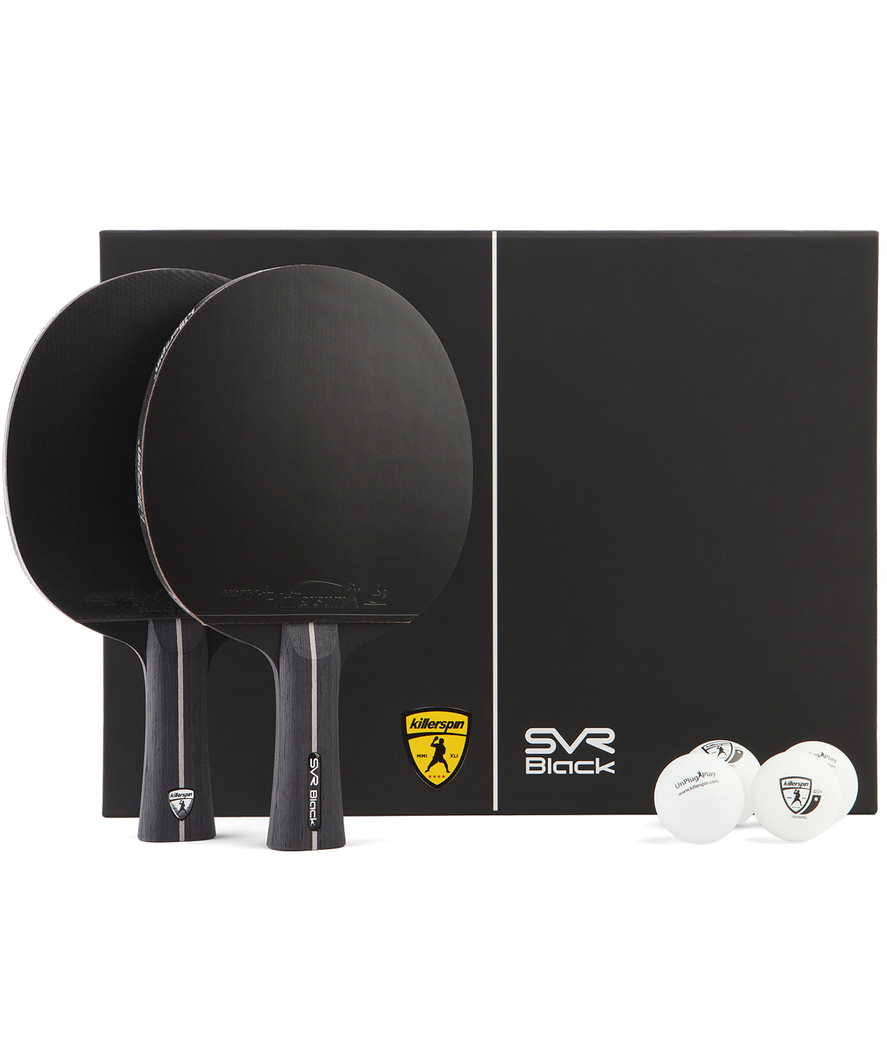 Killerspin SVR Ping Pong Paddle Set SVR 2U Black
