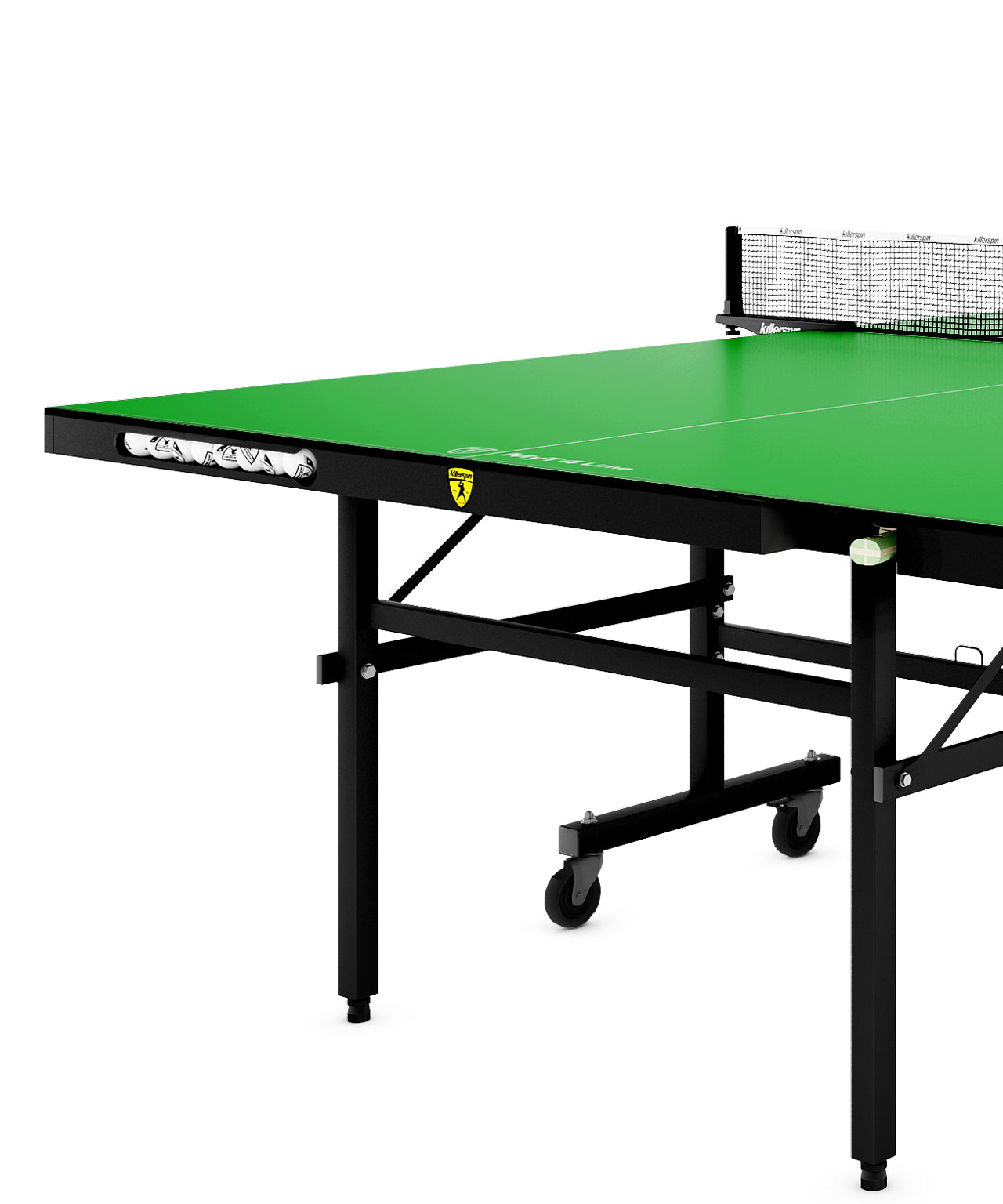 Killerspin MyT Ping Pong Table MyT4 Lime - Paddle and Ball Pockets