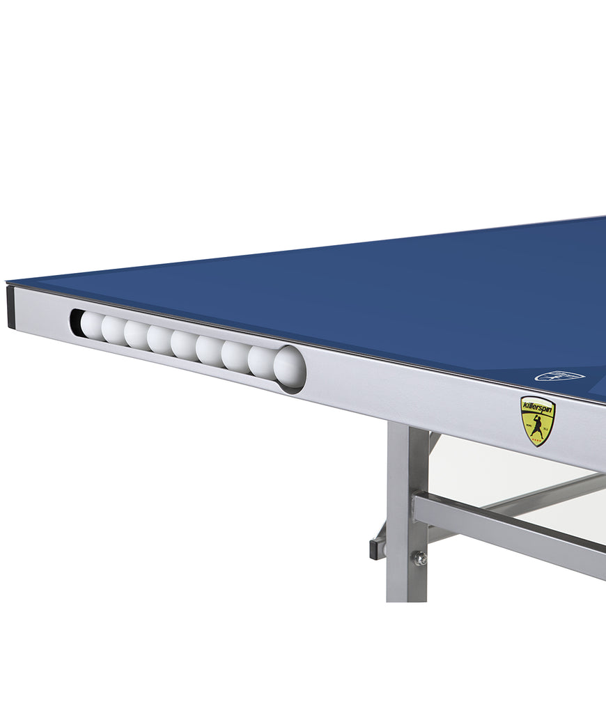 Killerspin Outdoor Ping Pong Blue Table MyT7 Breeze - Ball Pocket