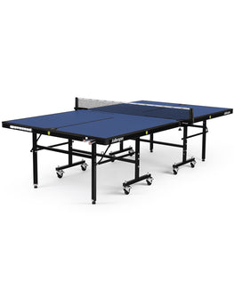Killerspin Indoor Ping Pong Table UnPlugNPlay415 DeepBlu Black frame Blue top model 2020