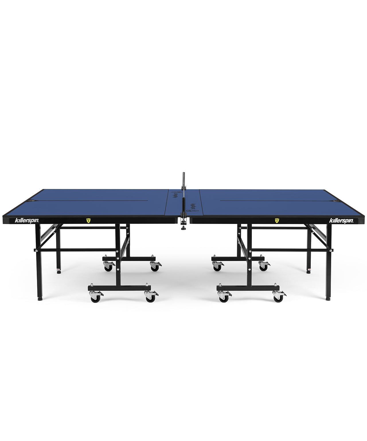 Killerspin Indoor Ping Pong Table UnPlugNPlay415 DeepBlu Black frame Blue top model 2020 side