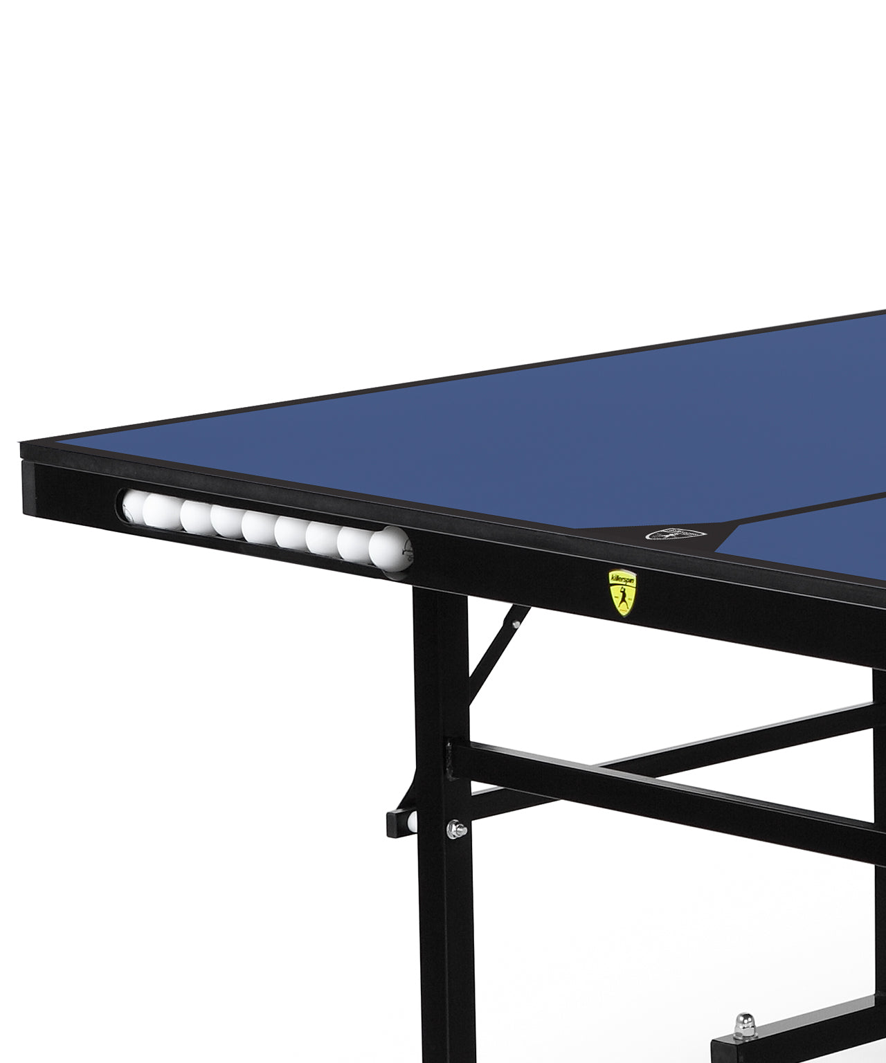 Killerspin Indoor Ping Pong Table UnPlugNPlay415 DeepBlu Black frame Blue top model 2020 - ball pocket