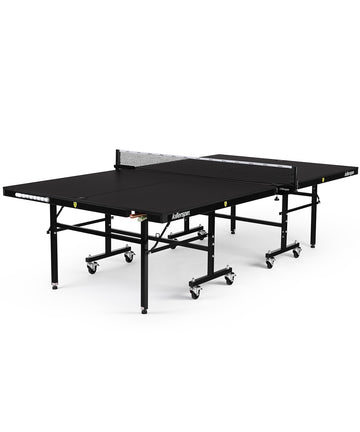 Killerspin Indoor Ping Pong Table UnPlugNPlay415 DeepChocolate Black frame Black top model 2020